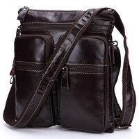 J. quinn Новый Для мужчин мужская сумка кожа мульти карман вертикальная сумка Для мужчин первый Слои из кожи для отдыха почтальон