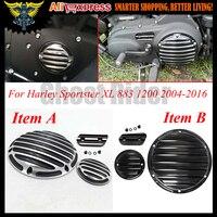 For Harley Dayidson Sportster XL 883 1200 2004 2016 2013 2014 Motocycle CNC Deep Cut Derby