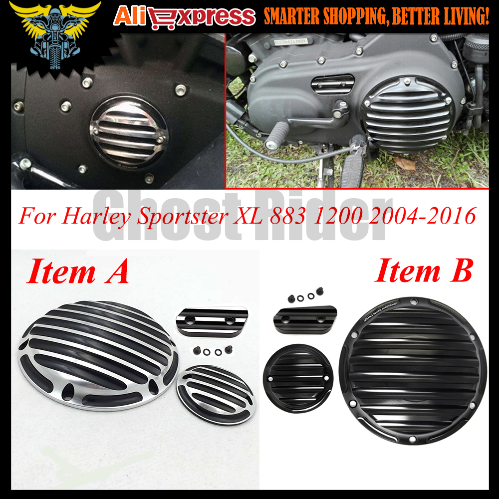 For Harley Dayidson Sportster XL 883 1200 2004-2016 2013 2014 Motocycle CNC Deep Cut Derby Timing Timer Chain Inspection Cover mtsooning timing cover and 1 derby cover for harley davidson xlh 883 sportster 1986 2004 xl 883 sportster custom 1998 2008 883l