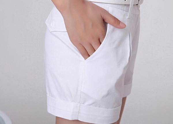 Summer Woman Cotton Shorts