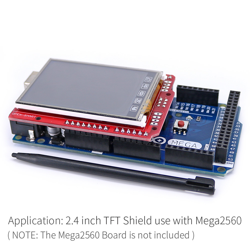 Image 5 - 2.4 inch TFT LCD Display module Touch Screen Shield ILI9340 IC onboard temperature sensor + Pen for Arduino UNO R3/ Mega 2560 R3-in Industrial Computer & Accessories from Computer & Office