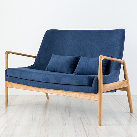 Double Nordic Wood Sofa Chairs Creative Fashion Minimalist Living Room Fabric Casual Cafe Chair Ikea On Aliexpress Alibaba Group