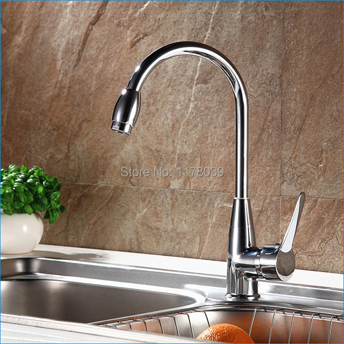 Rotatable Red crowned Crane Zinc Alloy single hole kitchen faucets ...