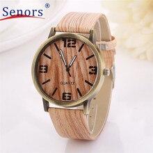 Улучшенный июня древесины кварцевые наручные моды мужчин подарок часы женщин для