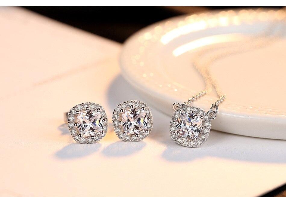S925 collier en argent sterling zircon bijoux en argent bijoux de mode cadeau LBM06