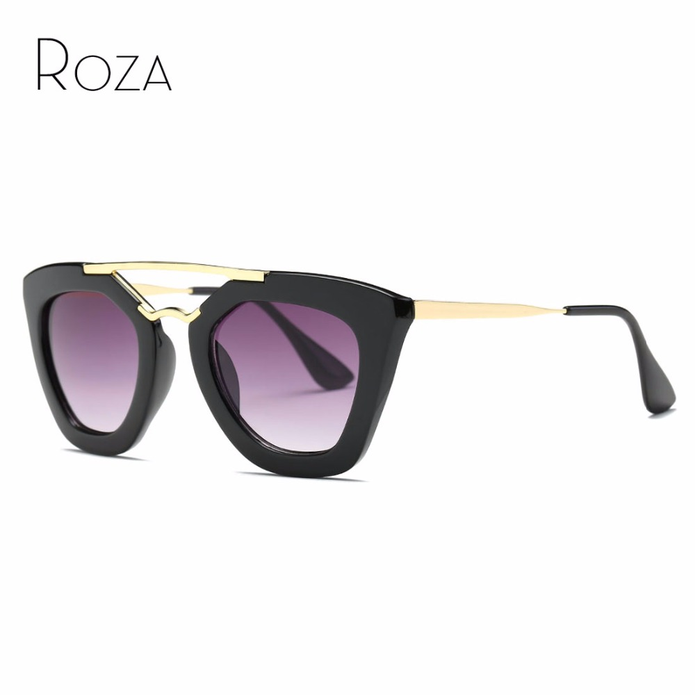 ROZA Vintage Brand Design Sunglasses Women Hot Selling Sun Glasses Metal Temple Oculos De Sol UV400 QC0132