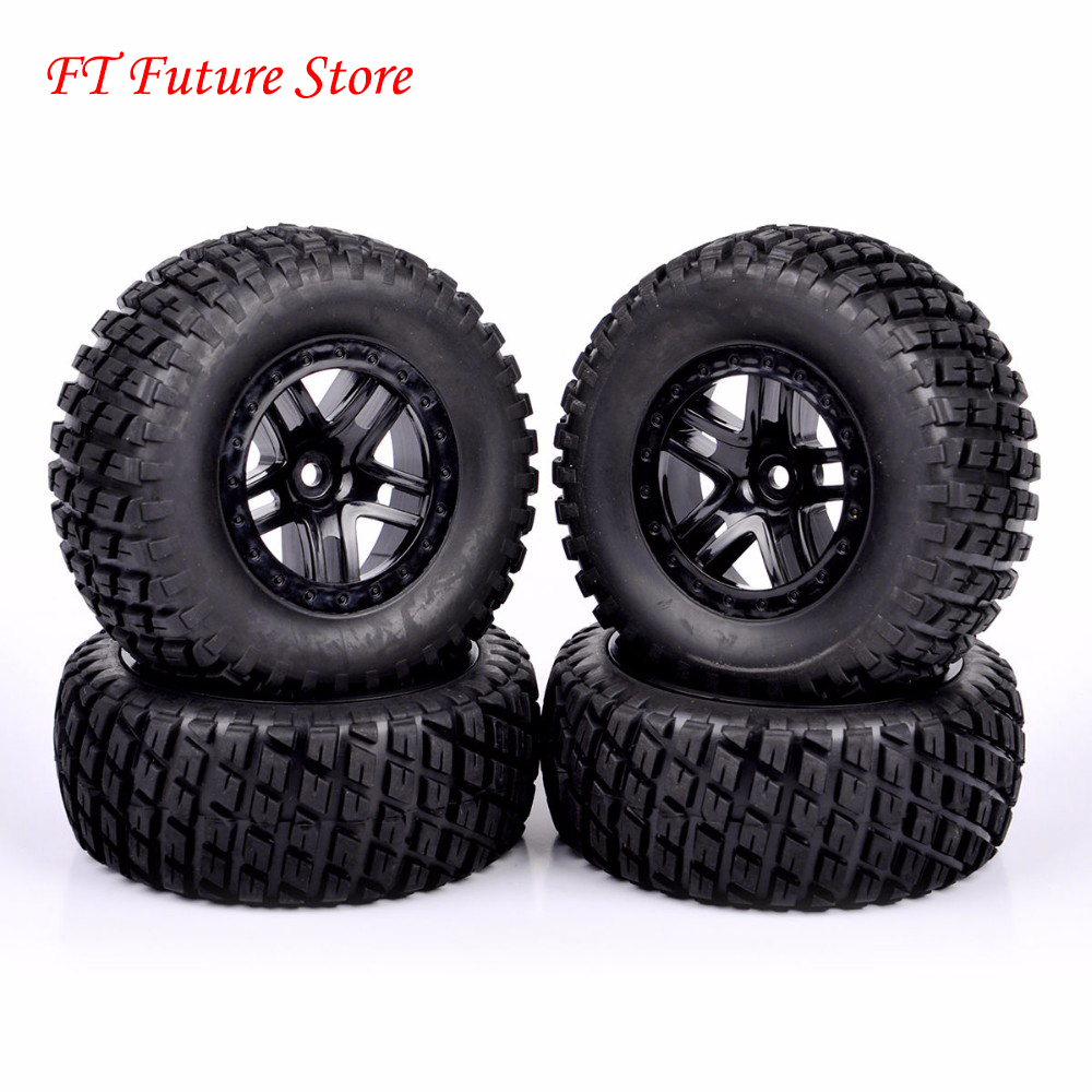 1/10 Scale Short Course Truck Tires And Wheel Rim902 29001+29504 For HPI RC Truck Car Model Toys Accessories