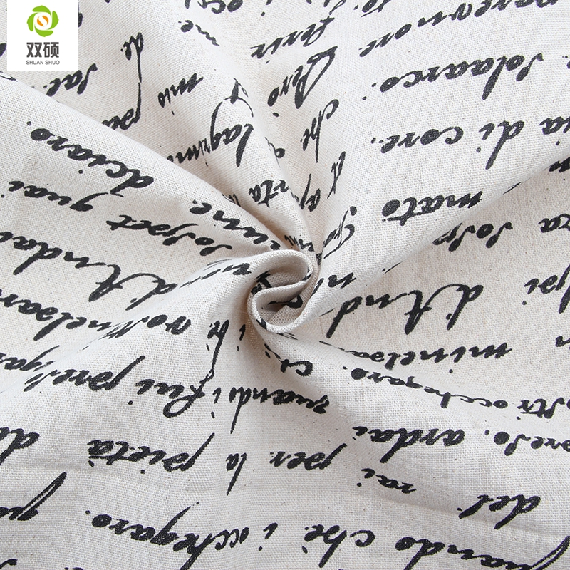Free Shipping French Newspaper Fabrics For Tablecloths Cushion Pillow Linen Fabric 155*50CM M32 ...