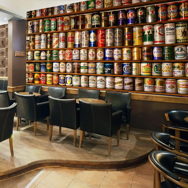 Custom Photo Wallpaper 3D Beer Large Wall Painting Living Room Bar KTV Hotel Cafe Background Wall Mural Papel De Parede 3D