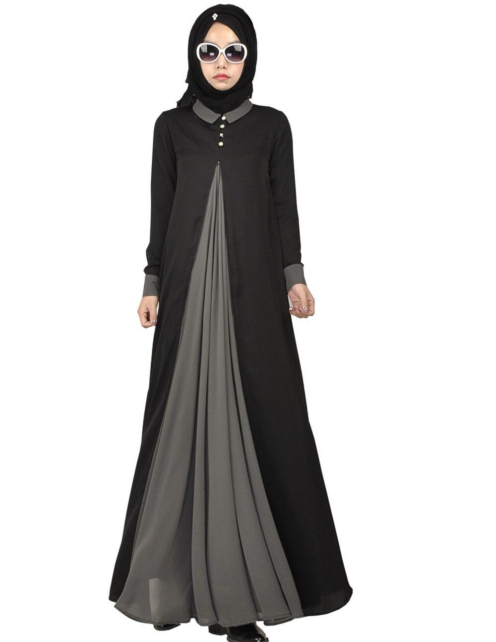 2018 nouveauté islamique musulman longue robe pour les femmes malaisie abayas à dubaï turc dames vêtements de haute qualité longue robe KJ
