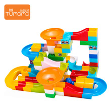 Marble Race Run Maze Ball Jungle Adventure Track Building Block Big Size Bricks Compatible Duplo Block