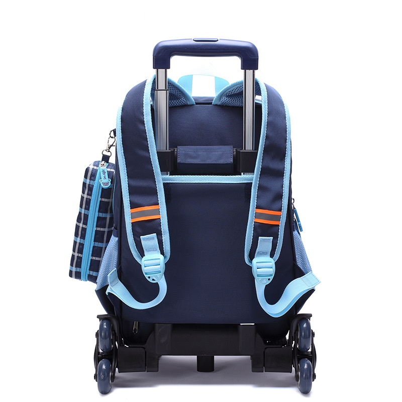 95b25431aca5 Nylon waterproof children school wheeled bag kids trolley backpack mochila  infantil escolar feminina for teenagers girls boys-in School Bags from  Luggage ...