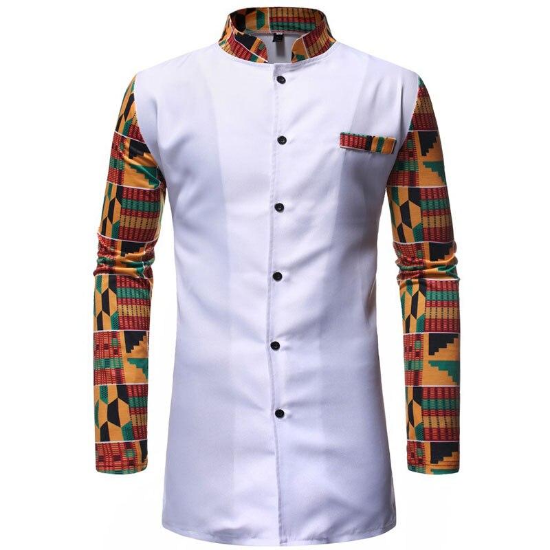 GH Men Cotton Skinny Long Sleeve Fashion Plus Size Classic Version Shirt