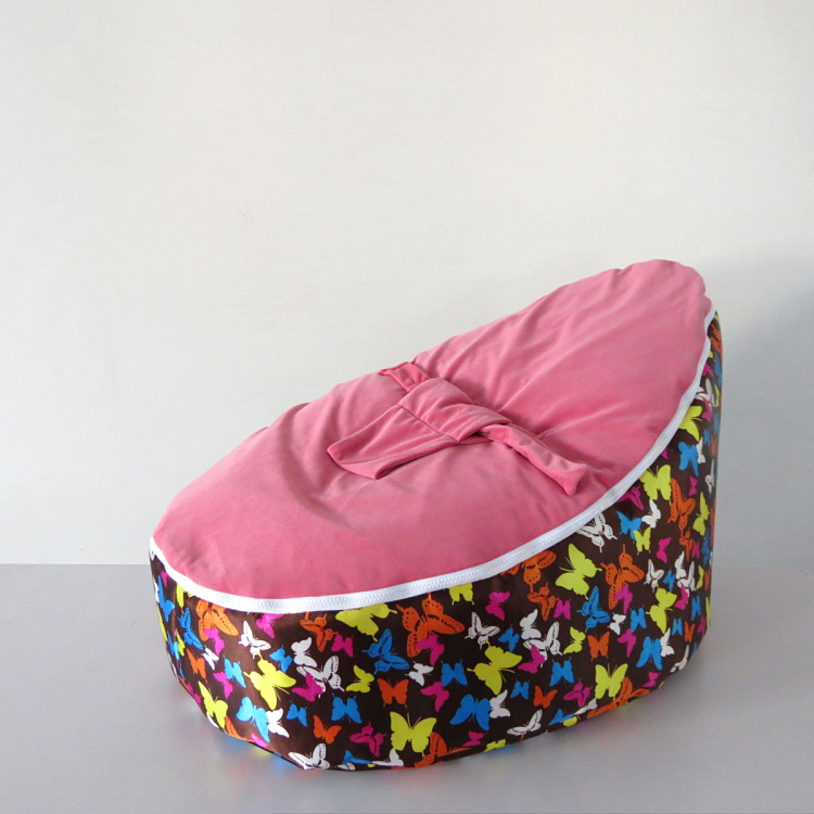 Pink baby beanbag cover only New Designed Baby Bed bean bag, kids sofa beanbag beds - free shipping 2016 hot baby beanbag with filler baby bean bag bed baby beanbag chair baby bean bag seat washable infant kids sofa cp10
