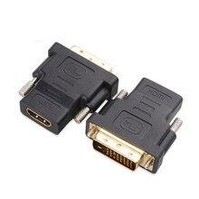 Livraison gratuite dvi – d 24 + 1 pino mâle vers HDMI femelle mf adaptateur convertisseur pour HDTV LCD Monitor