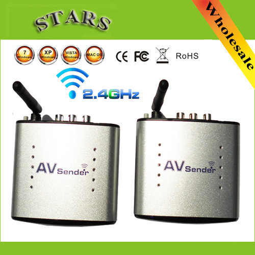 2 4G Wireless AV Transmitter Receiver Audio Video sender TV Signal Receiver Extender 3 RCA PAT330