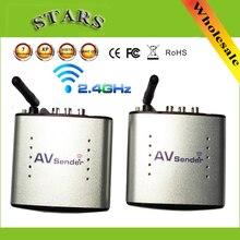 2.4g sem fio av transmissor & receptor de áudio e vídeo remetente tv sinal receptor extensor 3 rca pat335 pat 335, frete grátis