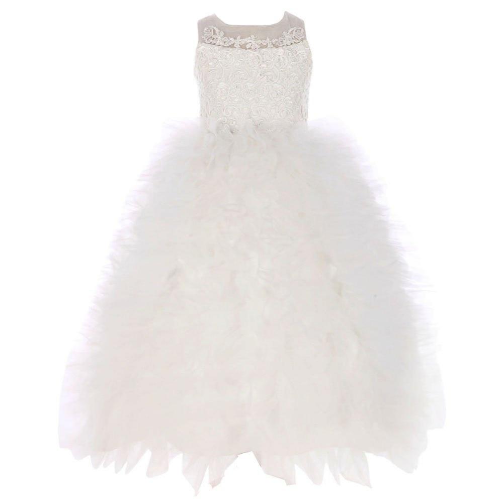So lovely   Flower     Girl     Dress   Sleeveless Prom Birthday Party Applique beading Round Neck Zip Back Cute   Dress