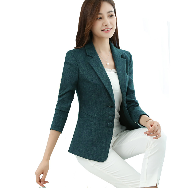 fashion 2019 Autumn Lady Blazers Coat Suits Female Jacket Suit New Elegant Coat high quality Spring Women's Blazer plus size 6XL