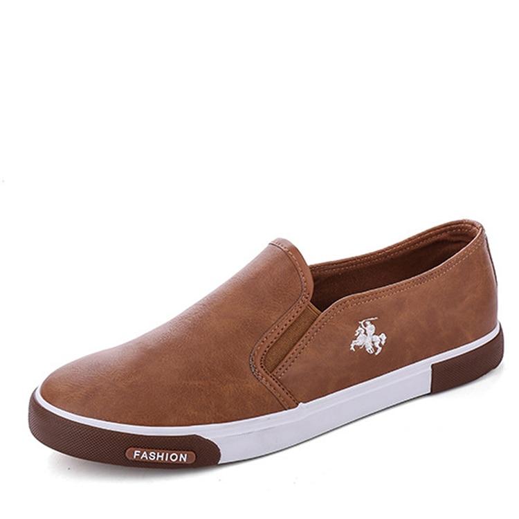 HTB1youFngMPMeJjy1Xdq6ysrXXaH 39-45 New 2019 Fashion Mens Shoes Outdoor Male loafers Walking Brand Sneakers Men Casual Shoes Leather Shoes For Men Flats