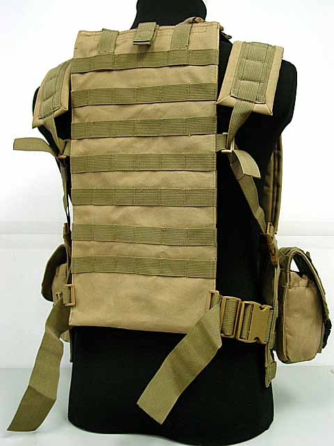 Molle Canteen tactical vest Hydration Combat RRV Vest Coyote Brown OD BK