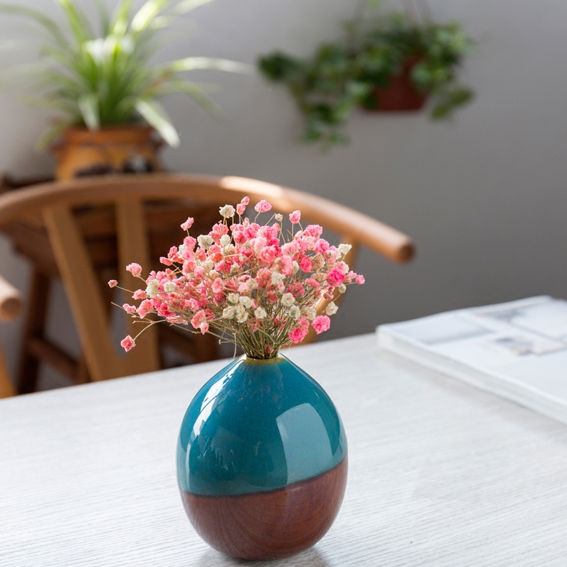 Creative Classic Ceramic Vase Mini Hydroponics plant Vases for flowers decoration home flower pot decor accessories modern in Vases from Home Garden