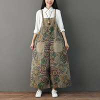 Jumpsuits for women 2018 female Chinese style swreetwear overalls for women rompers winter women dungarees AA4203