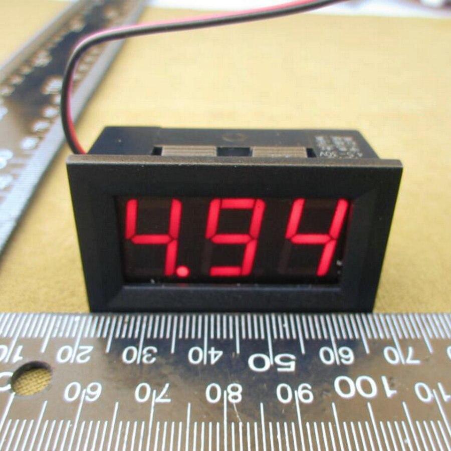 Digital Voltmeter 4.5-30v / DC 4.5V to 30V Digital Voltmeter Voltage Panel Meter For 6V 12V 24V Electromobile Motorcycle Car NEW