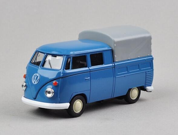 Candice guo Welly cool 1 36 mini classic Volkswagen T1 bus pickup truck alloy model car