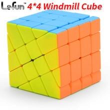 Lefun 4*4*4 Windmolen Magic Cube Stickerloze 4X4 Magic Cube Cubo Magico Leren Educatief Speelgoed voor Kinderen