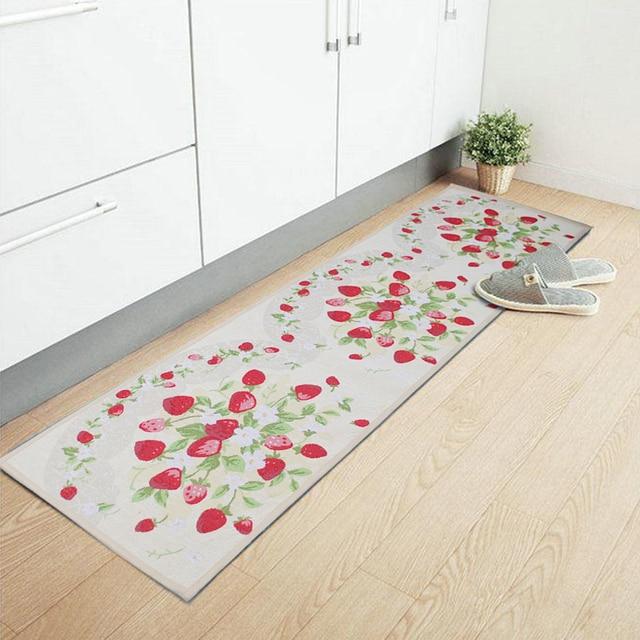 Yazi Erdbeere Lange Küche Teppich Läufer Teppich Rutschfeste Faser ...