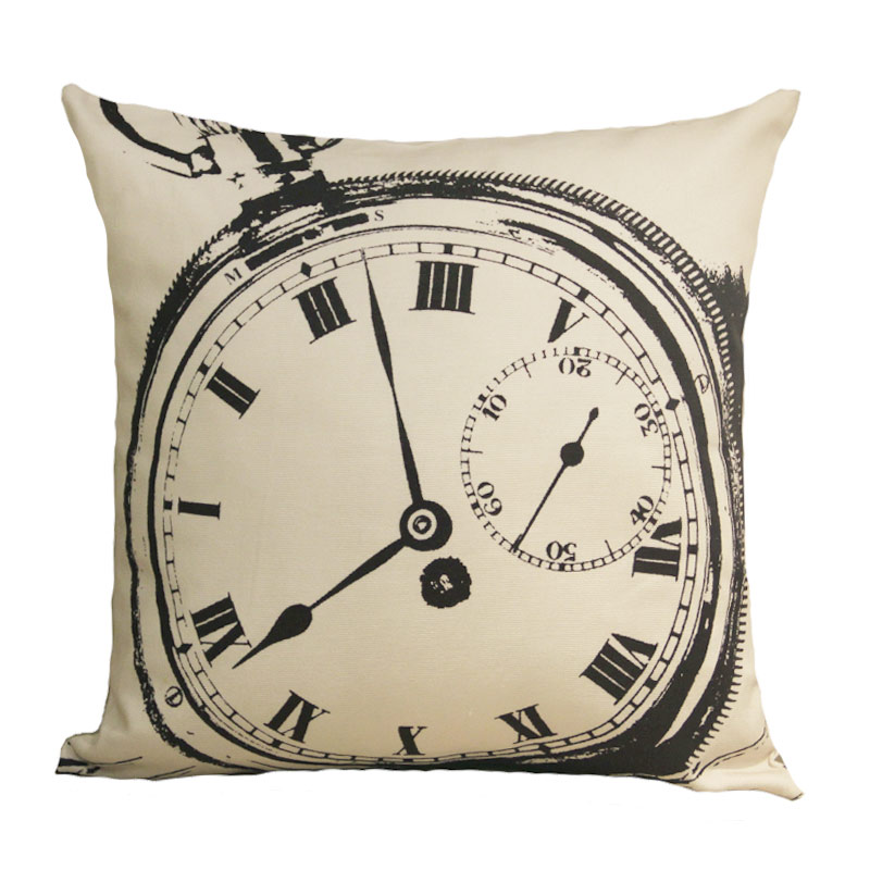 Hot Design Geometric Linen Cushion Covers Home Decorative Cushion Covers  Vintage pocket watch Car Throw pillow Covers bedding