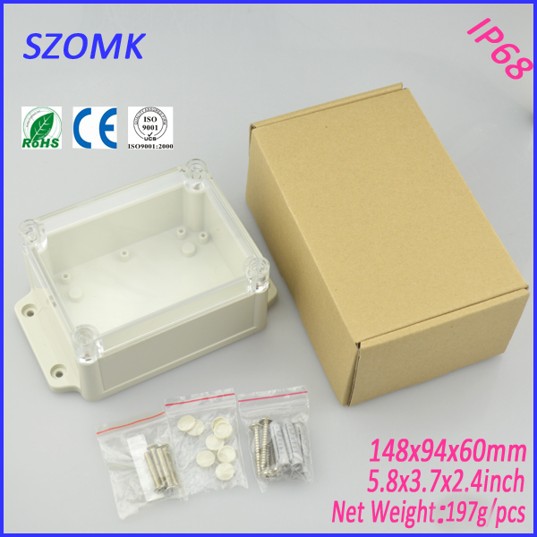 1 piece IP 68 electronics case High Quality ABS Plastic Junction Box Waterproof Level Circuit Housing project box 148*94*60MM лопата снеговая алюминиевая 3 х бортная с черенком 460х350х1400 мм