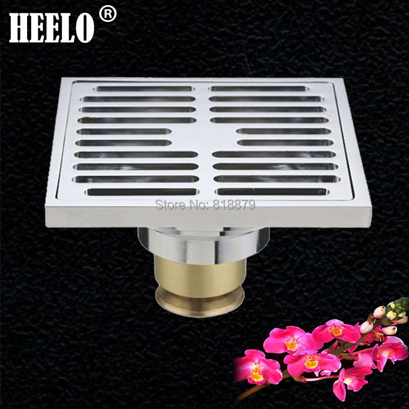 Free shipping Brass bathroom& kitchen water trap chrome finish 4 floor drain anti-odor