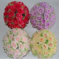 30 سنتيمتر الجودة روز الكرة الزهور المجففة الاصطناعي زهرة الحرير زهرة البلاستيك زهرة متزوج الشنق