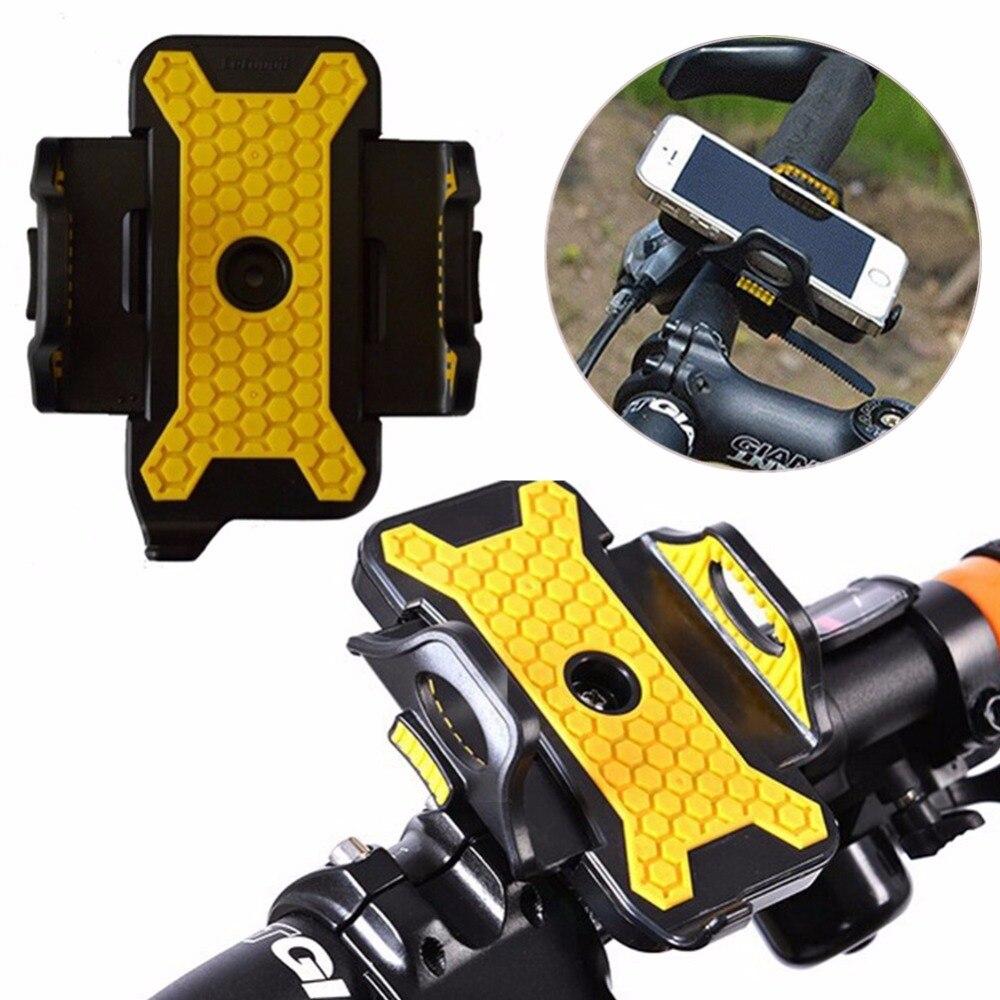 Universal Bicycle Bike Phone Holder Antiskid 360 Degree Rotate Motorcycle Handlebar Clip Phone Stand Mount Bracket Support