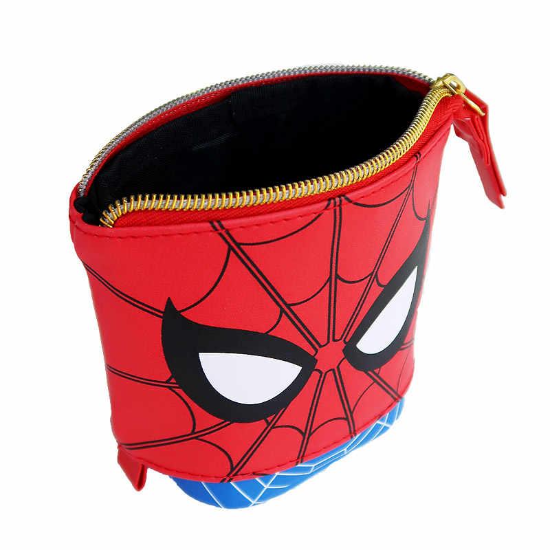2019 Disney Marvel Spiderman Plush Coin Plush Wallet Child Purse Quality Pencilbag Handbag For Children Birthday Gifts
