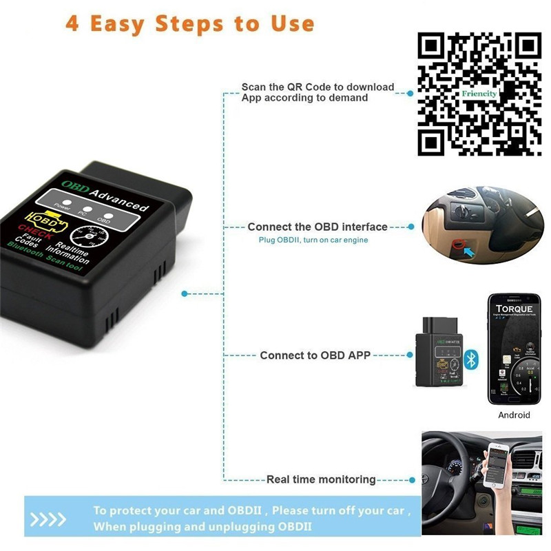 HTB1yovmwStYBeNjSspaq6yOOFXaK HH OBD ELM327 Bluetooth OBD2 OBDII CAN BUS Check Engine Car Auto Diagnostic Scanner Tool Interface Adapter For Android PC