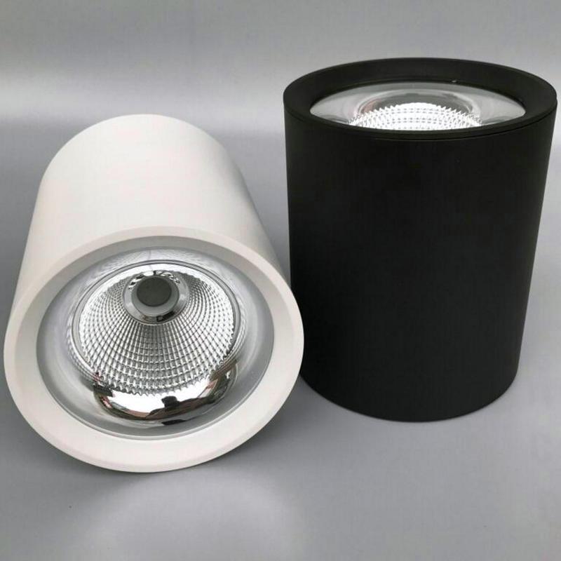 Montage en surface LED COB downlight 10 W/20 W 30 W lampe à LED AC85V-265V lumière de tache de plafond avec LED conducteur blanc/blanc chaud