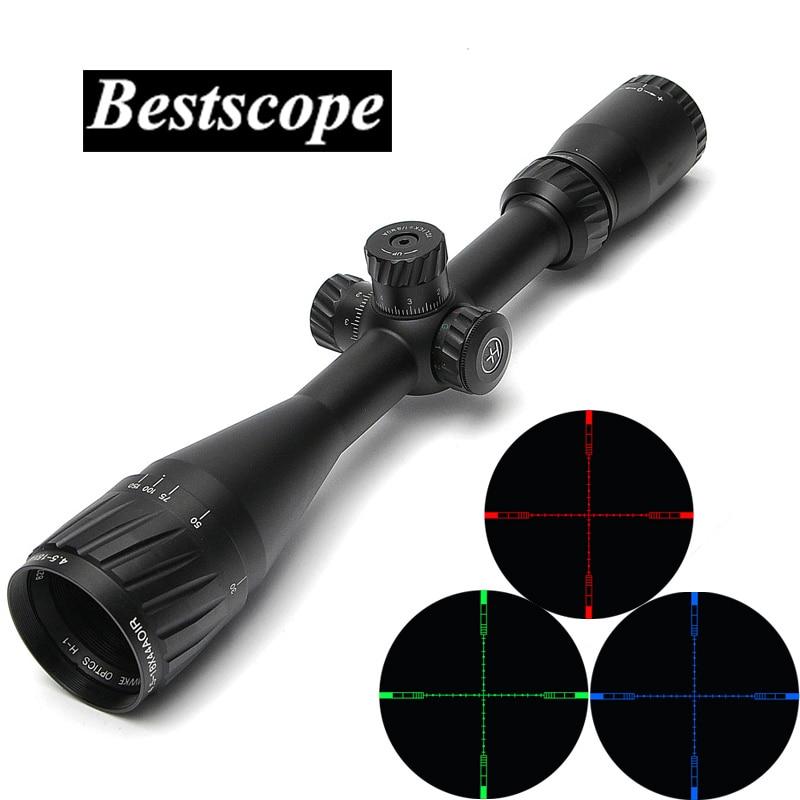 HAVVKE 4 5 18X44 AOIR Tactical Sniper Scopes Hunting Optics Riflescope RGB Illuminated With Sunshade For
