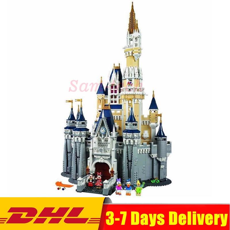 Compatible Legoingly 71040 Cinderella Princess Castle City Set Model Building Block DIY Toys Birthday Christmas Gifts
