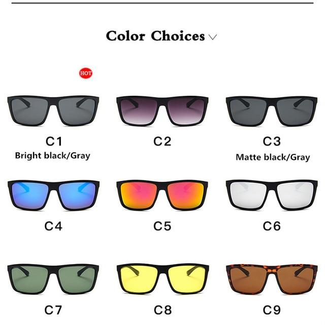 Gafas de sol de diseño clásico para hombre, lentes de sol de marca de lujo, para pescar, conducir, cuadradas, 2019 5