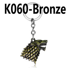 HBO Game of Thrones Keychain House Stark Winter Is Coming 3D Wolf Head Metal Keychain Hot Gift Key Ring Chian Holder Jewelry(China)