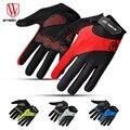 RUEDA PARA ARRIBA completo dedo guantes pantalla táctil otoño lycra del camino mtb mountain bike bicicleta guantes deportivos transpirable equipo
