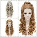 Женщины Косплей Золушка Аниме Вьющиеся Волнистые Длинные Полный Волос Коричневый Костюм Парики