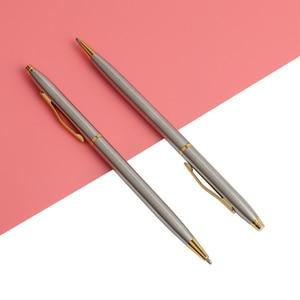 "Image 5 - 20 יח\חבילה קלאסי באיכות גבוהה ספין עט נירוסטה מוט מסתובב מתכת עט כדורי מכתבים עטי כתיבה 0.7 מ""מ"