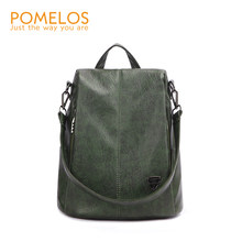 POMELOS Backpack Female New Women PU Leather Backpack Bag Anti Theft High Quality Softback Urban Fashion Backpacks For Girls(China)