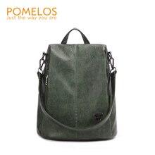 POMELOS Backpack Female New Women PU Leather Backpack Bag Anti Theft High Quality Softback Urban Fashion Backpacks For Girls