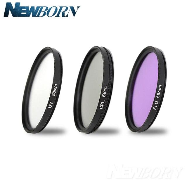 55mm UV מסנן UV CPL FLD עדשת ערכת סינון עבור ניקון D5600 D5500 D5300 D5200 D5100 D3200 D3400 D3300 עם AF P DX 18 55mm עדשה