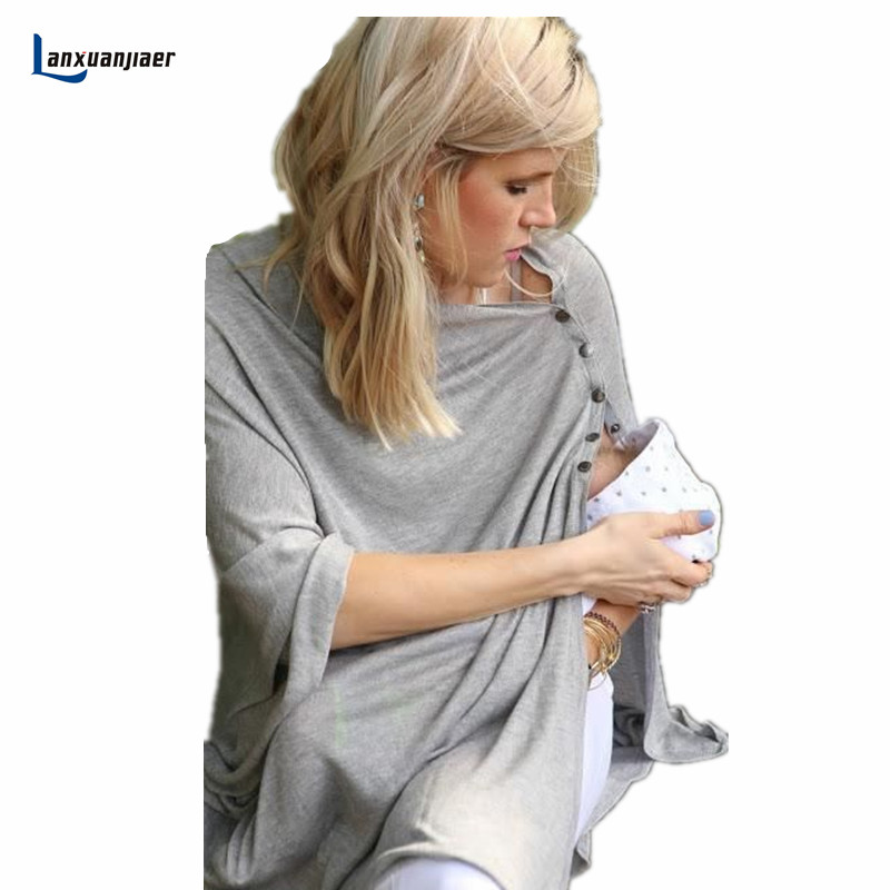 Lanxuanjiaer Maternity Breastfeeding Cover Nursing Covers Shawl Breast Feeding cotton Baby Feeding Care Covers hot selling ...